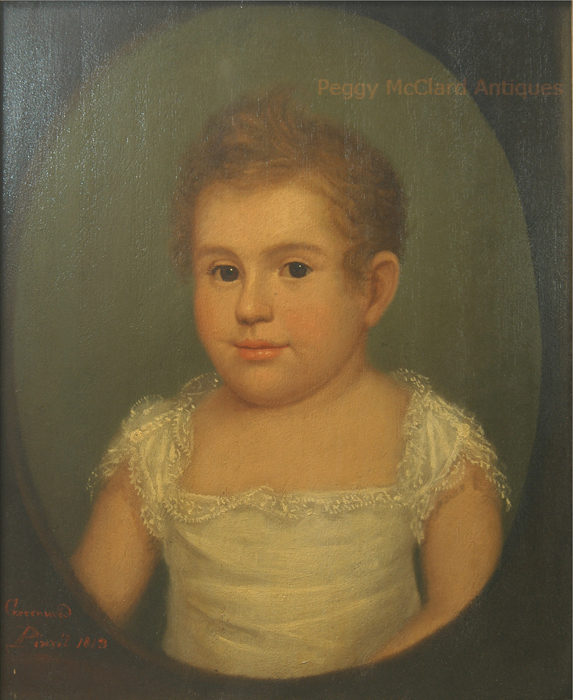 Portraits - Antique Portrait of Baby by Ethan Allen Greenwood, dated ...